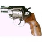 Револьвер под патрон Флобера Alfa 420 никель орех
