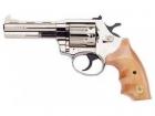 Револьвер под патрон Флобера Alfa 441 никель орех